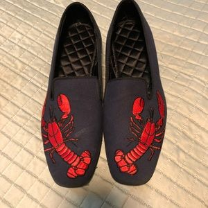 9e7e5c0b3ed Shoes - Brooks Brothers Lobster Embroidered canvas Slipers